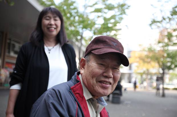 Hanae Nozawa and her father. (Iain Marlow/The Globe and Mail)