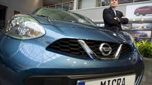 Christian Meunier expects the Versa Note and Micra models to take about 25 to 30 per cent of the subcompact market in Canada (Kevin Van Paassen/The Globe and Mail)