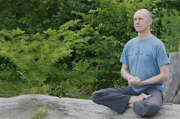 Vancouver yoga teacher Bernie Clark says yogis should stay within their limits rather than pushing their bodies into extreme positions. 'You don't have to put your foot behind your head,' he says.