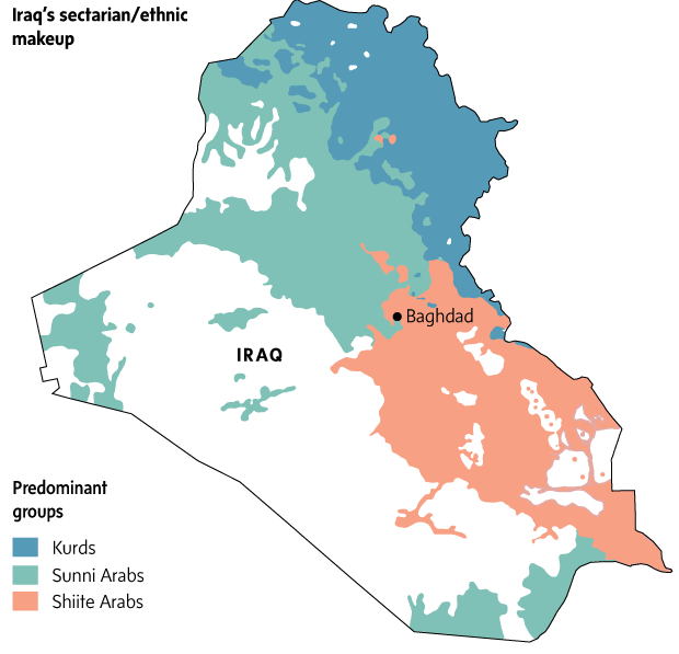 Explainer: Shia-Sunni divide and Iraq's deadly sectarian war ... on sunni syria map, sunni and shia differences chart, sunni vs shia, abu bakr, muhammad al-mahdi, sunni countries, hasan ibn ali, muslim distribution map, sunni iraq map, bahrain sunni-shia map, sunni middle east map, sunni muslim map, sunni-shia population map, shia islam map, muawiyah i, fatima zahra, sunni islam, husayn ibn ali, fatimid caliphate, sunni and shi a split, aisha bint abu bakr,