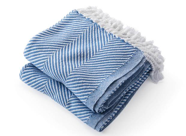 Cotton herringbone throw, $243 (U.S) at Brahms Mount (www.brahmsmount.com)