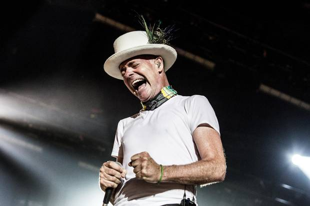 Gord Downie of The Tragically Hip performs during their final concert in Kingston, Ont.
