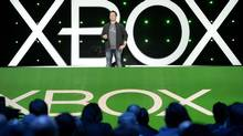 Phil Spencer, head of Microsoft's Xbox division and Microsoft Studios, speaks during the Xbox E3 Media Briefing at USC's Galen Center in Los Angeles, California June 9, 2014. (KEVORK DJANSEZIAN/REUTERS)
