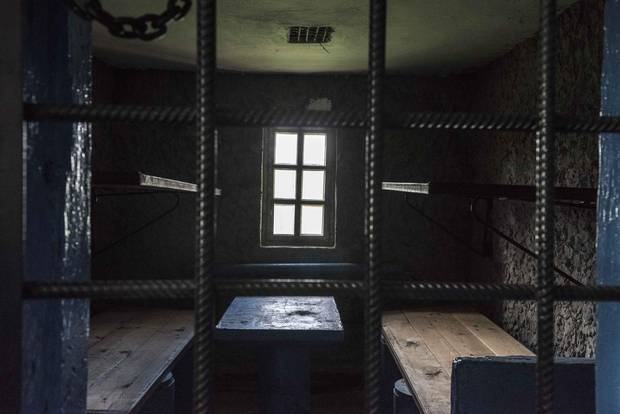 A prison cell at Perm-36, now on display at the Museum of the History of Political Repression outside Perm, Russia.