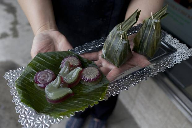 Patchmon Su-Anchalee sells jewel-like Thai sweets like these out of her tiny store in Bloor-West Village.
