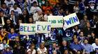 A fan of the Vancouver Canucks holds up a sign during Game Five of the 2011 NHL Stanley Cup Final at Rogers Arena on June 10, 2011.