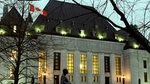 A night-time photo of the Supreme Court of Canada building in Ottawa. (JIM YOUNG/JIM YOUNG FOR GLOBE AND MAIL)