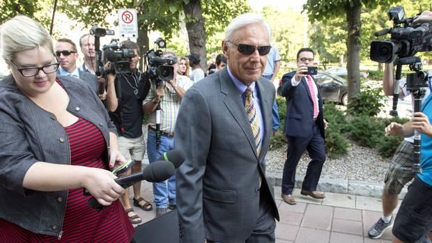 Donald Bayne arrives at the Ottawa courthouse on Aug. 17.