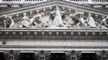 The front of the New York Stock Exchange is shown, Thursday, Feb. 10, 2011. (Mark Lennihan/AP)