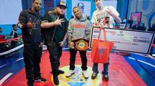 On the broadcast following Corey Charron's Freestyle Friday victory last spring, he was handed an oversized cheque and promised an appearance on BET's 2013 hip Hop Hop Awards show.