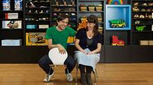 Tyler Quantz and Claire Hutchings, owners of indie toy store Dilly Dally