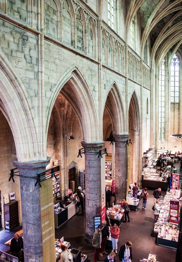 In Maastricht, bookstore patrons browse through a store in a converted Dominican church. In 2008, Britain's Guardian newspaper called it the best bookstore in the world.