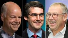 Nova Scotia Progressive Conservative Leader Jamie Baillie , Liberal Leader Stephen McNeil and NDP Leader Darrell Dexter. (ANDREW VAUGHAN AND PAUL DARROW/THE CANADIAN PRESS/FOR THE GLOBE AND MAIL)