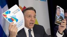 Coalition Avenir Quebec Leader Francois Legault unveils his financial platform Thursday, March 6, 2014 in Quebec City. (Jacques Boissinot/THE CANADIAN PRESS)