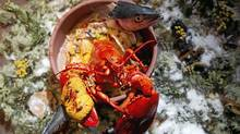 Derek Dammann's dish Sagimite de la mer (Christinne Muschi/The Globe and Mail)
