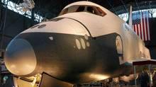 Nasa announced Tuesday that the space shuttle Enterprise will go to New York's Intrepid Sea, Air and Space Museum for display in a glass enclosure on a Manhattan pier. (Renee Bouchard/NASA/Associated Press/Renee Bouchard/NASA/Associated Press)