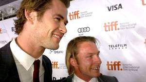 Chris Hemsworth (left) and Tom Hunt at the Toronto International Film Festival.