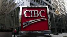 A photograph of the CIBC sign in Toronto's financial district in downtown Toronto on Thursday, Feb. 26, 2009. (NATHAN DENETTE/The Canadian Press)