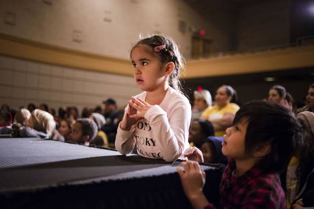 Aleah Razor, 4, takes part in worship. From the vantage point of most Christian churches in Canada, whose parishioners skew much older, every day at C3 is Kids Takeover day.