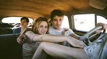 Sam Riley, Kristen Stewart and Garrett Hedlund in a scene from On the Road. (Gregory Smith/AP)