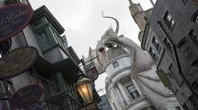 A June, 2014, photo released by Universal Orlando Resort shows The Wizarding World of Harry Potter – Diagon Alley from the Harry Potter-themed area of Universal Orlando Resort in Orlando, Fla. The attraction will officially open on July 8. (SHERI LOWEN/ASSOCIATED PRESS)