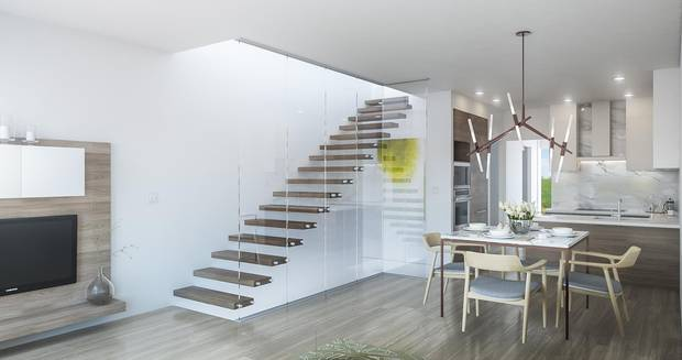 Inside one of the 46 Moodyville townhomes being sold by developer Guildford Brook.