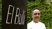 Spanish chef Ferran Adria at his El Bulli restaurant in Roses, northern Spain, June 16, 2007. The restaurant, repeatedly crowned the world's best, will close on July 30, 2011. (LLUIS GENE/LLUIS GENE/AFP/Getty Images)