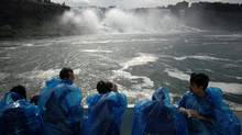 Tourists enjoy the Maid of the Mist in Niagara Falls. In 2002, Canada ranked 7th in the world in the number of foreigners' arrivals. It fell to 15th in 2010, behind countries such as Malaysia and Ukraine. (Sheryl Nadler/The Canadian Press/Sheryl Nadler/The Canadian Press)