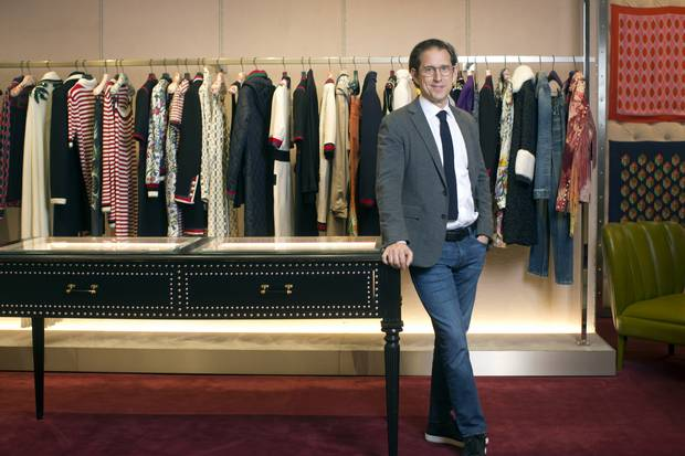 Richard Baker is shown at the Saks Fifth Avenue flagship store in New York City.