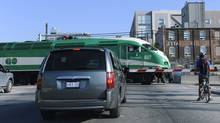A GO train makes its way to Union Station. (2012 file photo) (Fred Lum/The Globe and Mail)