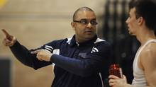 Coach Roy Rana is photographed during basketball practice at Ryerson University on March 31 2011. Attending the practice was Kevin Pangos, 17, a high-school student who will be teaming with players from around the world next week during the Nike Hoops Summit. (Fred Lum)