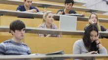 Students sit in a university lecture hall. Is this the ideal learning environment? (Getty Images/iStockphoto)