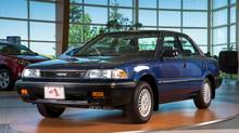 The 1989 Corolla started rolling out of Toyota's new plant in Cambridge, Ont. (toyota)