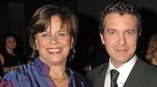 Helga Stephenson, left, with Rick Mercer at a Canadian Film Centre gala in 2008. (Tom Sandler for The Globe and Mail)