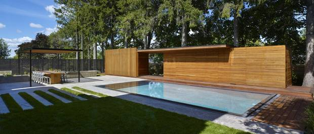 Outdoor space created in King City by architect Michael Amantea.