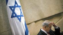 Israeli Prime Minister Benjamin Netanyahu sponsored a bill to oppose boycotts of Israeli academics and West Bank products. (Oded Balilty/The Associated Press)