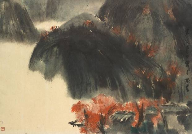 Lui Shou Kwan, untitled work, 1962 ink, pigment on paper, from the exhibition Emptiness
