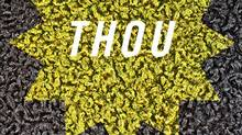 The cover of Thou, a book of poems by Aisha Sasha John.