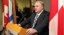 Mayor Rob Ford's campaign received nearly $70,000 from Doug Ford Holdings between March and May, 2010. (Fernando Morales/The Globe andf Mail)