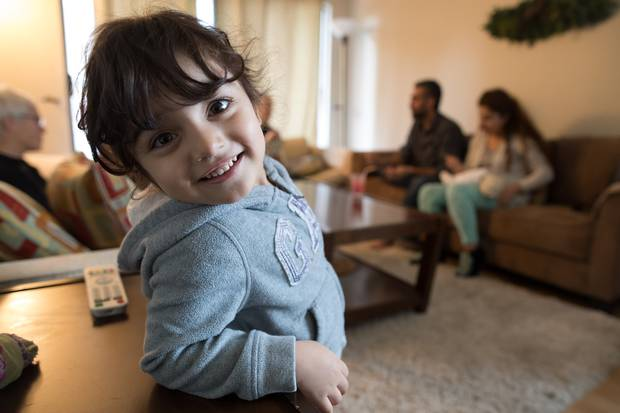 Lilyan Albarko, 2, smiles while at home with her parents.