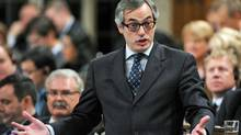 Treasury Board President Tony Clement speaks during Question Period in the House of Commons on Nov. 23, 2011. (Sean Kilpatrick/Sean Kilpatrick/The Canadian Press)