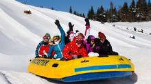Float on the snow at Village Vacances Valcartier.