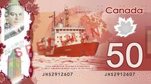 Most of Canada's current icebreakers – including the plucky little Amundsen – won't last as long as our new $50 bills. (Bank of Canada)