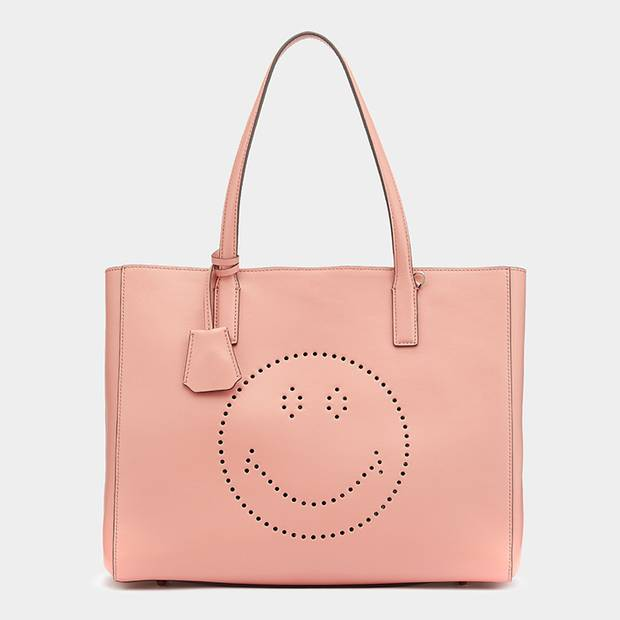 Anya Hindmarch Smiley Ebury shopper, £795 through www.anyahindmarch.com