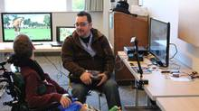 "Mark Barlet, President of the AbleGamers Foundation, right, started the foundation in 2005 after seeing how difficult, expensive and frustrating it can be to experience the pleasures that many gamers take for granted. ""These are real-life things for us."" (AbleGamers Foundation/Facebook)"