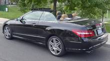 2011 Mercedes E-350 cabriolet. (Peter Cheney/Peter Cheney/The Globe and Mail)