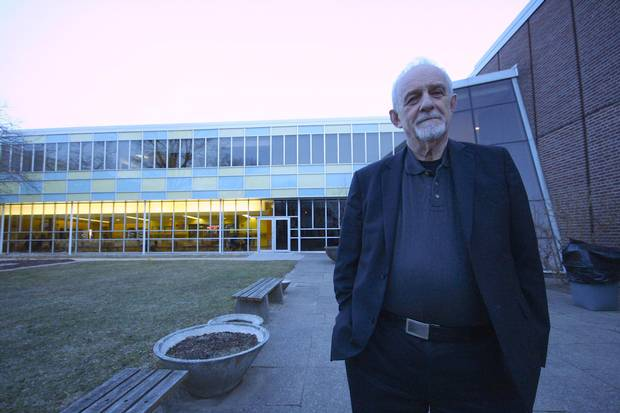 Nate Horowitz, dean and campus principal of the Story Arts Centre, stands outside the building.