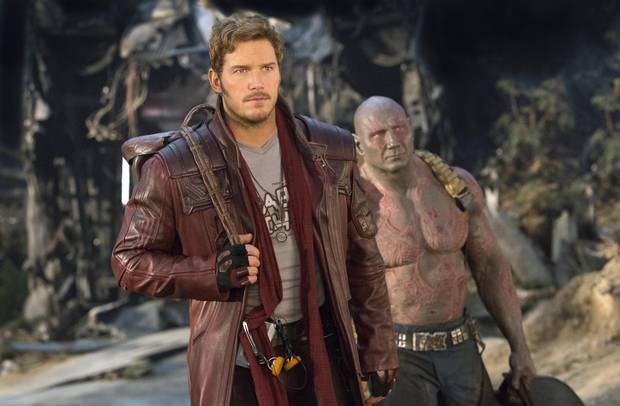 Chris Pratt in Guardians of the Galaxy Vol. 2.