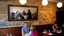 The dining area at Leslieville's Glas. (Chris Young/Chris Young for The Globe and Mail)