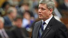 Prime Minister Stephen Harper speaks during Question Period in the House of Common on Tuesday, November 24, 2009. (FRED CHARTRAND)
